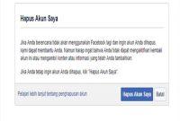 Cara Menonaktifkan FB Permanen