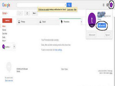 cara ganti password gmail android