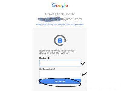 cara merubah password gmail android