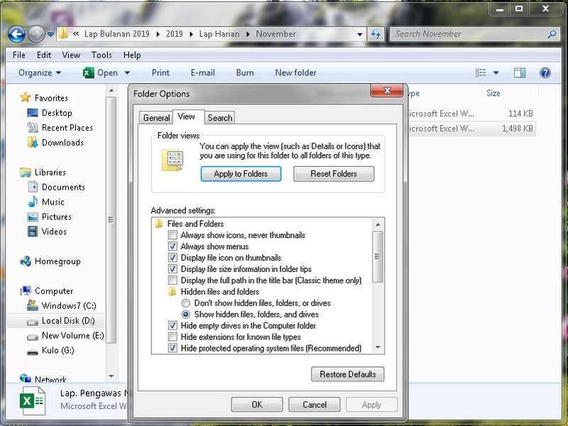 Cara Menampilkan File Hidden di Windows